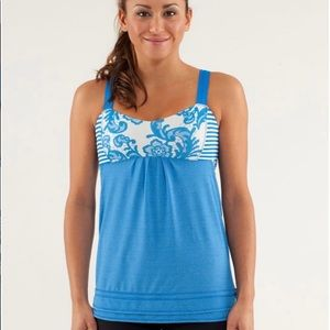 Lululemon Run: Back on Track Tank Beaming Blue